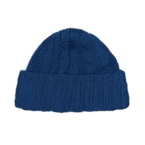 cotton 100% beanie : blue